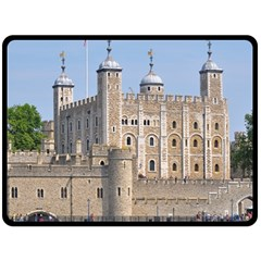 Tower Of London 2 Double Sided Fleece Blanket (large)