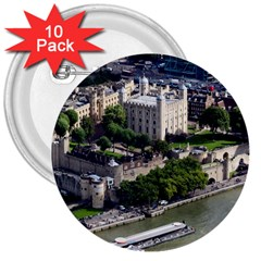 TOWER OF LONDON 1 3  Buttons (10 pack)