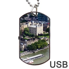 Tower Of London 1 Dog Tag Usb Flash (one Side)
