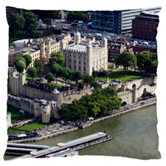 TOWER OF LONDON 1 Large Flano Cushion Cases (Two Sides)