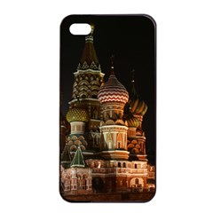 St Basil s Cathedral Apple Iphone 4/4s Seamless Case (black)