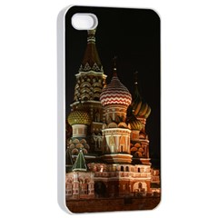 St Basil s Cathedral Apple Iphone 4/4s Seamless Case (white)