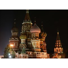 St Basil s Cathedral Birthday Cake 3D Greeting Card (7x5)