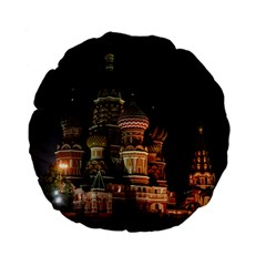 St Basil s Cathedral Standard 15  Premium Flano Round Cushions