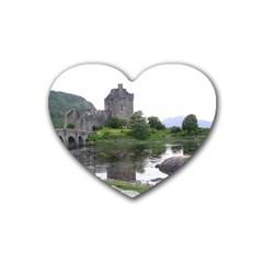 SCOTLAND EILEAN DONAN Heart Coaster (4 pack)