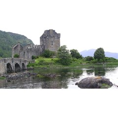 SCOTLAND EILEAN DONAN YOU ARE INVITED 3D Greeting Card (8x4)