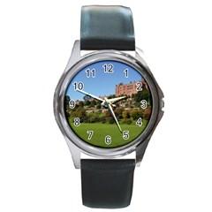 Powis Castle Terraces Round Metal Watches