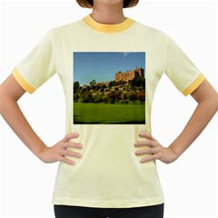 Powis Castle Terraces Women s Fitted Ringer T Shirts