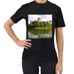 Pembroke Castle Women s T Shirt (black) (two Sided)