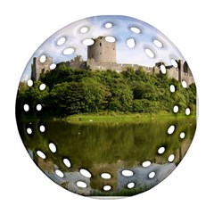 Pembroke Castle Round Filigree Ornament (2side)