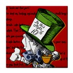 The Mad Hatter Tile Coasters Front