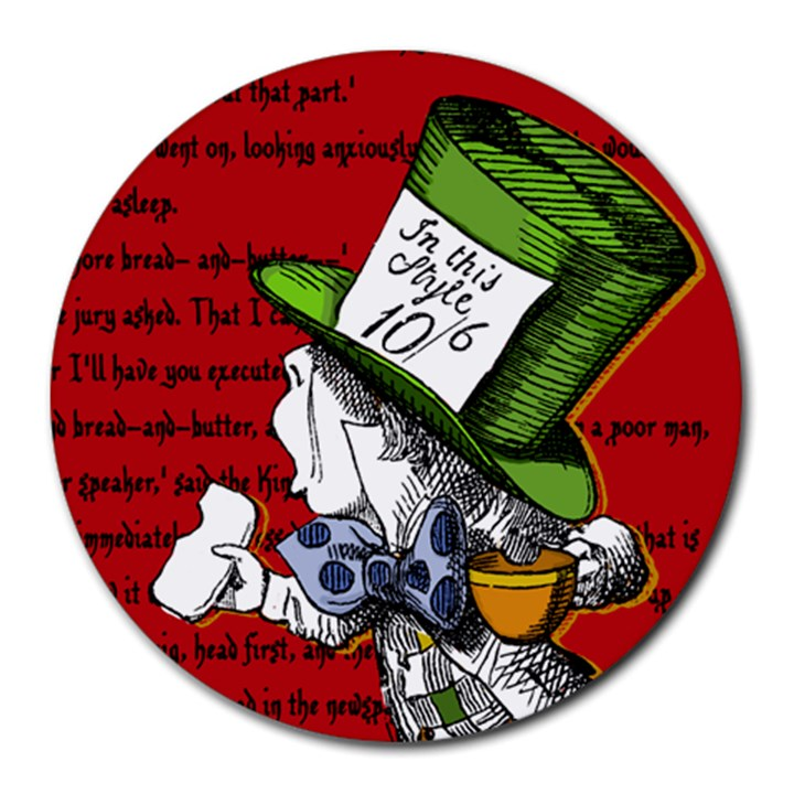 The Mad Hatter Round Mousepads