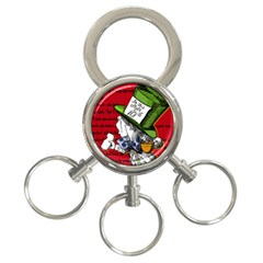 The Mad Hatter 3 Ring Key Chains