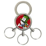 The Mad Hatter 3-Ring Key Chains Front