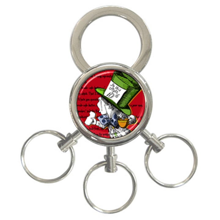 The Mad Hatter 3-Ring Key Chains