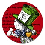 The Mad Hatter Magnet 5  (Round) Front