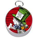 The Mad Hatter Silver Compasses Front