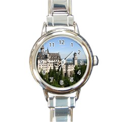 NEUSCHWANSTEIN CASTLE 2 Round Italian Charm Watches