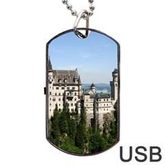 Neuschwanstein Castle 2 Dog Tag Usb Flash (one Side)