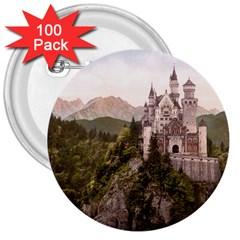 NEUSCHWANSTEIN CASTLE 3  Buttons (100 pack)