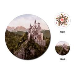 Neuschwanstein Castle Playing Cards (round)