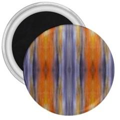 Gray Orange Stripes Painting 3  Magnets