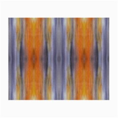 Gray Orange Stripes Painting Small Glasses Cloth (2-Side)