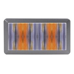 Gray Orange Stripes Painting Memory Card Reader (mini)