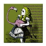 Flamingo Croquet Tile Coasters Front