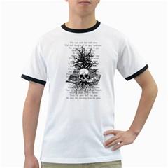 Skull & Books Ringer T Shirts