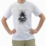 Skull & Books Men s T-Shirt (White)  Front