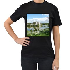 LEEDS CASTLE Women s T-Shirt (Black) (Two Sided)