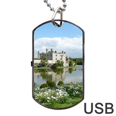 Leeds Castle Dog Tag Usb Flash (one Side)