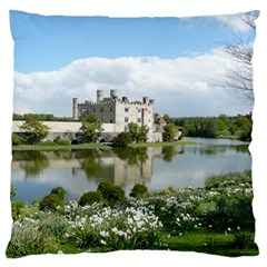 Leeds Castle Large Flano Cushion Cases (two Sides)