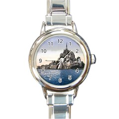 LE MONT ST MICHEL 2 Round Italian Charm Watches