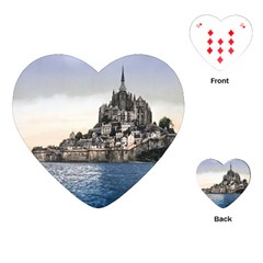 Le Mont St Michel 2 Playing Cards (heart)