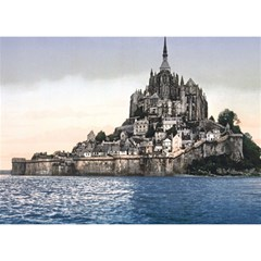 LE MONT ST MICHEL 2 Birthday Cake 3D Greeting Card (7x5)