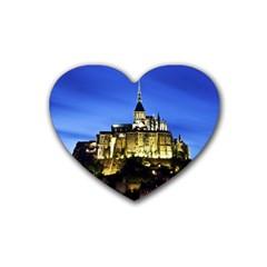 LE MONT ST MICHEL 1 Rubber Coaster (Heart)