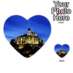 Le Mont St Michel 1 Multi Purpose Cards (heart)