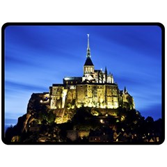 Le Mont St Michel 1 Double Sided Fleece Blanket (large)