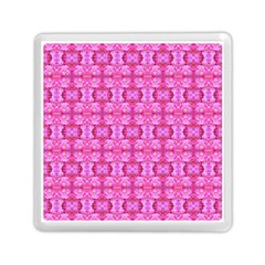Pretty Pink Flower Pattern Memory Card Reader (square)