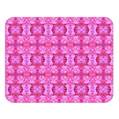 Pretty Pink Flower Pattern Double Sided Flano Blanket (Large)