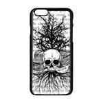 Skull & Books Apple iPhone 6/6S Black Enamel Case Front