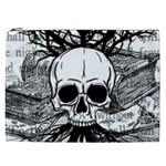 Skull & Books Cosmetic Bag (XXL)  Front
