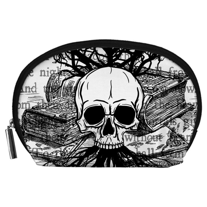 Skull & Books Accessory Pouches (Large)