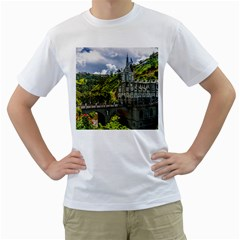 Las Lajas Sanctuary 1 Men s T Shirt (white) (two Sided)