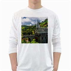LAS LAJAS SANCTUARY 1 White Long Sleeve T-Shirts