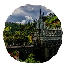 Las Lajas Sanctuary 1 Large 18  Premium Flano Round Cushions