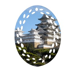 Himeji Castle Oval Filigree Ornament (2 Side)