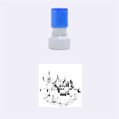 Hilltop Castle Rubber Round Stamps (small)